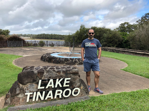 Dr Baris Demir at Lake Tinaroo in northern Queensland's Danbulla National Park.