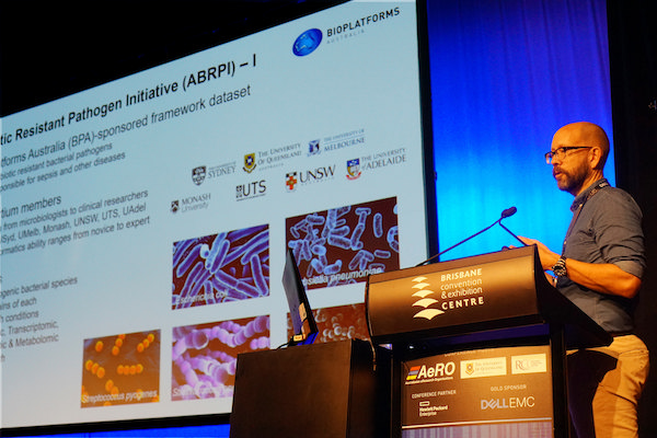 Jeff Christiansen speaking at eResearch Australasia 2017